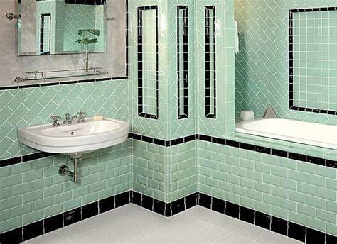 1930 Bathroom Style 1930s Bathroom Tiles Art Deco Pinterest 1930s - Art-deco-green-bathroom-tiles