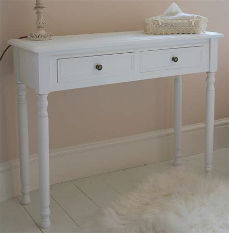 white dressing table and swing mirror shabby french chic