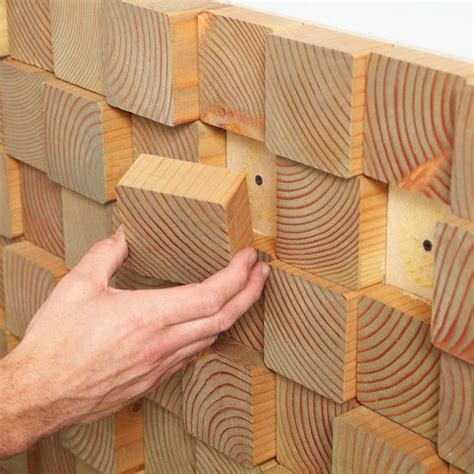 wall treatments diy natural wood block wall treatments decor inspiration