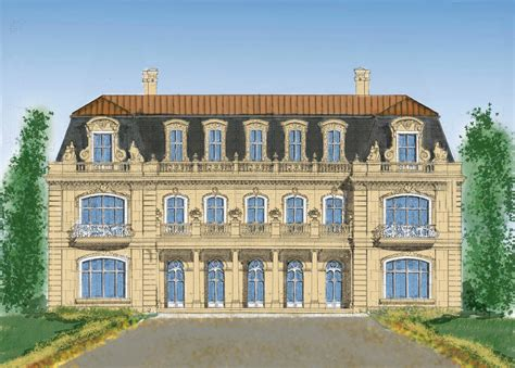 chateau design style architect home designs mansions castles palace luxury plans