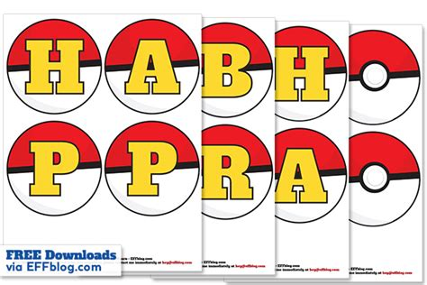 Printable Pokemon Birthday Banner | pok 233 mon go pok 233 banner free printable birthday banner