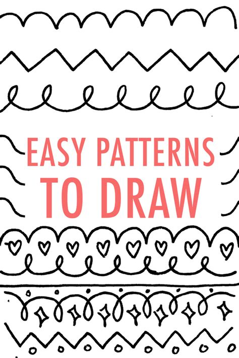 simple drawing patterns easy patterns to draw design your own pattern