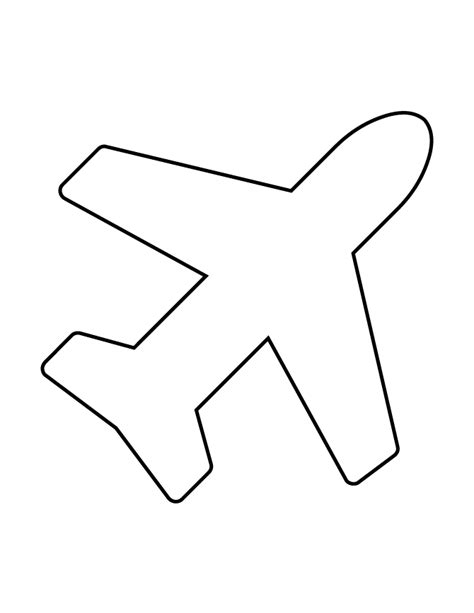 airplane template preschool plane stencil 98 h m coloring pages