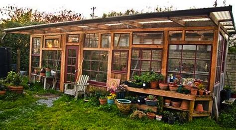 build your own backyard greenhouse build a greenhouse from old windows do it yourself fun ideas
