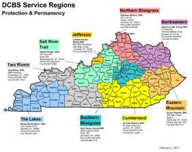 service county map kentucky cabinet for health and family services service
