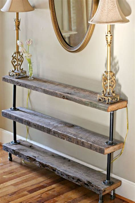Diy Console Table Diy Reclaimed Wood Console Table
