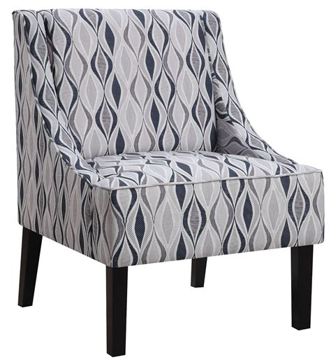 light blue pattern accent chair from coaster 902603