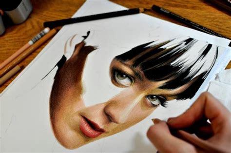 come on cara melukis realis menggunakan pensil warna