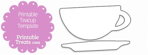 teacup template free tea cup template coloring pages