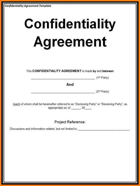 %name Basic Nda Template   Confidentiality Agreement Template ? 15  Free Word, Excel, PDF Documents Download   Free