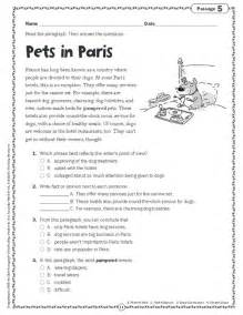 comprehension skills short passages for close reading grade 4