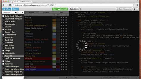 tmtheme editor herokuapp emacsfodder tmtheme to emacs script to convert a textmate