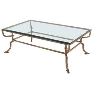 Wrought Iron And Glass Coffee Tables Heavy Wrought Iron Studio Work Base Glass Top Coffee Table For Sale At 1stdibs