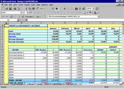 excel balance sheets inventory cash flow