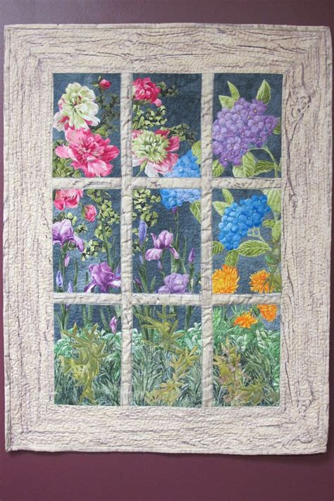 Window Quilt Fabric by Best 25 Landscape Quilts Ideas On