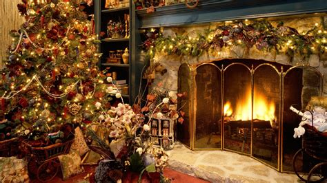 Yule Fireplace by Fireplace Wallpaper Wallpapers9