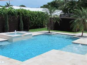 Contemporary Pool With Fountain Manalapan Florida Swimming Pool Designs Florida