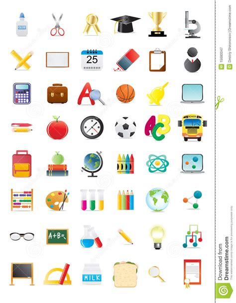 coloring school icons royalty free stock photos image school icons stock illustration image of clip college