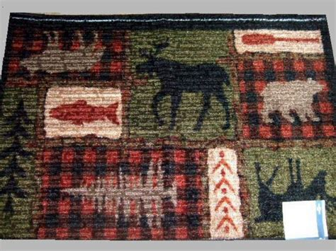 cabin themed rugs large moose area rug cabin lodge decor