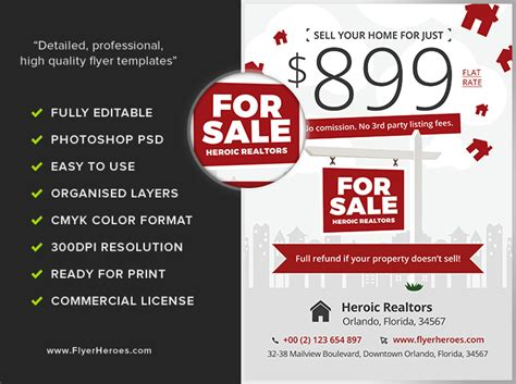 Realtor Flyers Templates by Realtor Promotion Flyer Template Flyerheroes