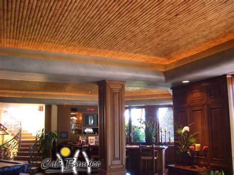 Bamboo Ceiling Design by Bamboo Slats In Ceiling Design Home Reno