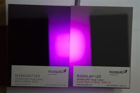 Glasplatte Beleuchten by Plexiglas Schwarz Zur Led Beleuchtung