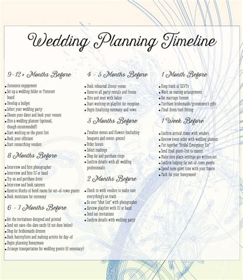 Wedding Planner Needed by Things Needed For Planning A Wedding A Complete Checklist