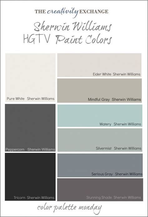 sherwin williams hgtv paint colors from sherwin williams