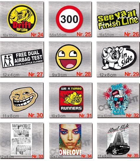 Sticker F Rs Auto Tuning by Aufkleber Set W 196 Hlen Sie 10 St 220 Ck Sticker F 220 R Auto