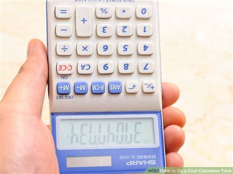 calculator you can write on 4 ways to do a cool calculator trick wikihow
