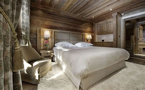 White And Wood Bedroom - ski resort winter escape elegant chalet in the french alps freshome com