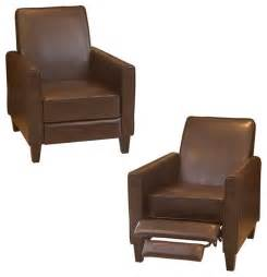 Small Recliners On Sale by Small Leather Recliner Chairs Home Design