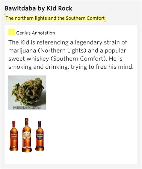sweet southern comfort lyrics the northern lights and the southern comfort bawitdaba