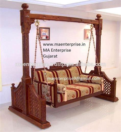 indian swing furniture teak wood indoor indian jhula swing for home buy indoor