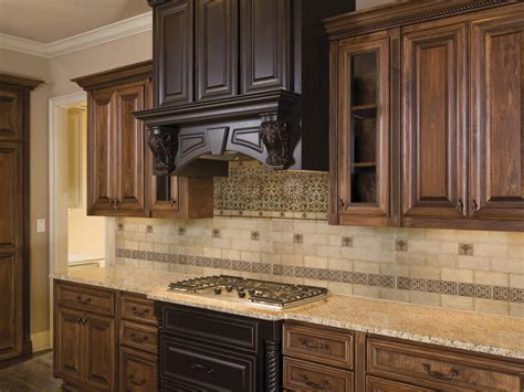 Elegant Kitchen Backsplash by Kitchen Amp Dining Elegant Backsplashes With Wooden Cabinet