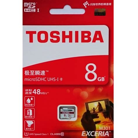 Toshiba Microsdhc Uhs I Class 10 40mbs 8gb Sd C08gr7ar040a Black toshiba exceria microsdhc uhs i class 10 48mb s 8gb