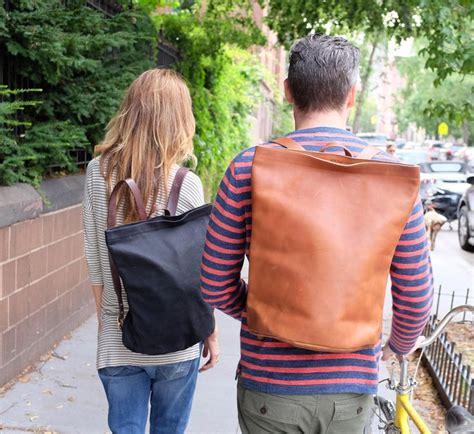 Ec Top Kika leather harvest backpack by kika ny bags