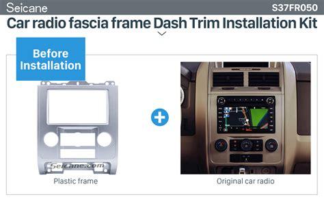 car stereo radio fascia dash panel cover trim for citroen mitsubishi asx peugeot ebay for ford escape 07 2012 car stereo radio fascia dash panel cover trim 2din frame ebay