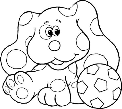 nick jr blue s clues coloring pages 13 coloring pages of blues clues print color craft