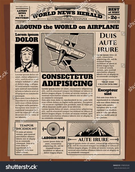 Awesome Olden Times Newspaper Template Images Resume Olden Times Newspaper Template