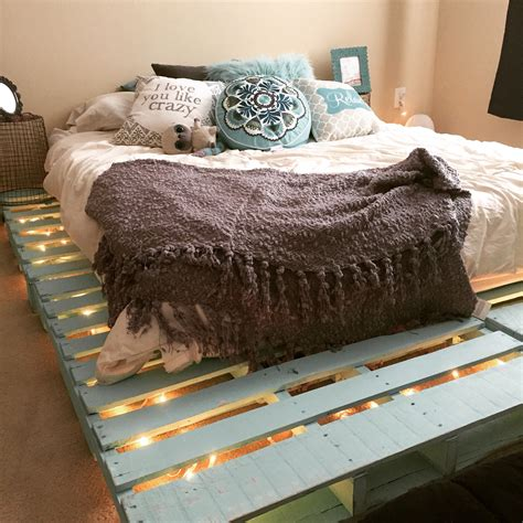 diy simple pallet bed frame top 62 recycled pallet bed frames diy pallet collection