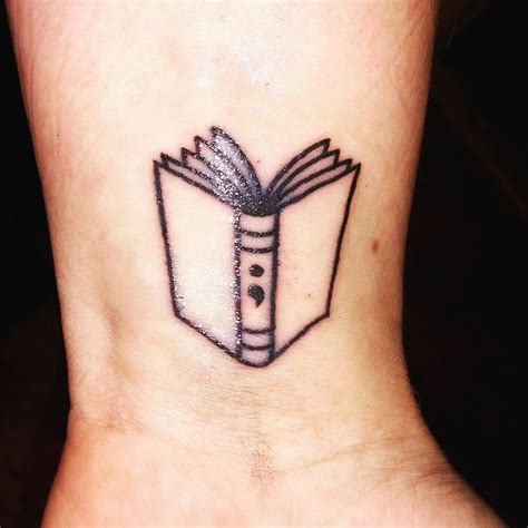 small book tattoos best 25 semicolon ideas on