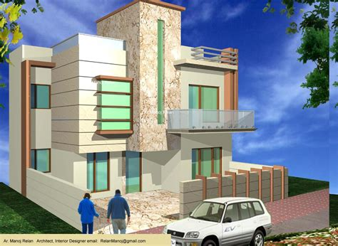 Designs For Kitchen Curtains 3d elevation concept for a 2 story home gharexpert