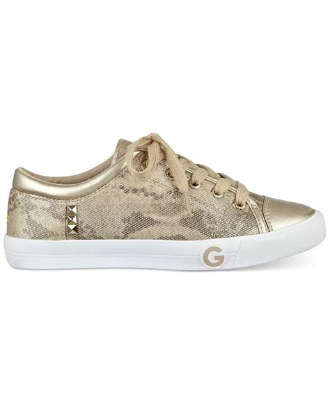 guess sneakers for g by guess oona sneakers in metallic lyst