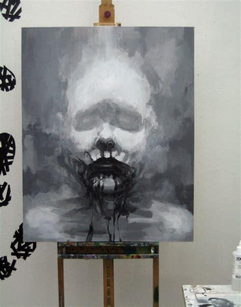 acrylic paint on black canvas blogil 187 painting it black