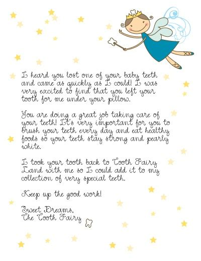 letter from tooth the tooth
