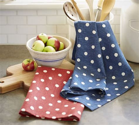 Polka Dot Kitchen Rug Polka Dot Kitchen Towel Set Of 2 Pottery Barn