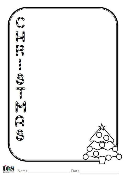 a set of 4 christmas themed acrostic poem sheets each