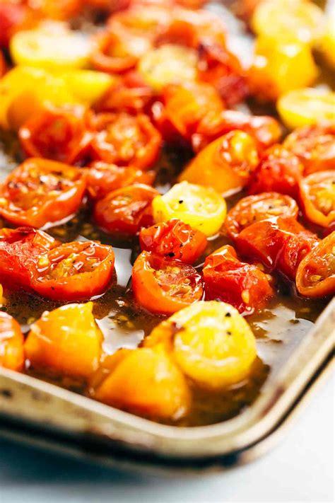 roasted tomatoes recipe roasted tomato basil pesto spaghetti pasta recipe