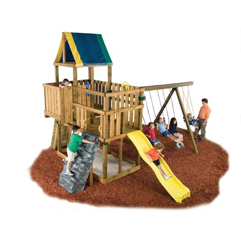 swing set kit with slide swing n slide kodiak custom diy swing set kit reviews
